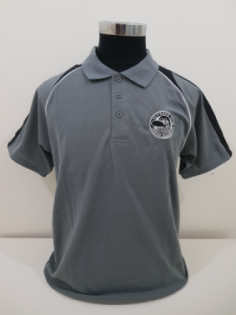 Mens Polo Triton, ash/black- size medium - 55cm